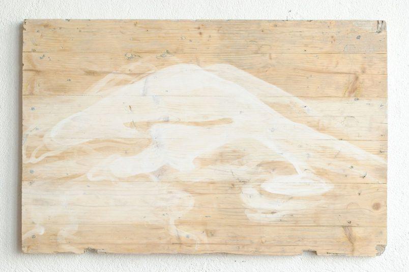 Berg II - 2012 - Dispersionsfarbe auf Holz - 50 x 80 cm