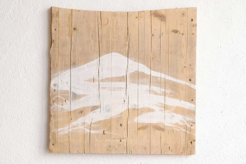 Berg I - 2012 - Dispersionsfarbe auf Holz - 50 x 50 cm