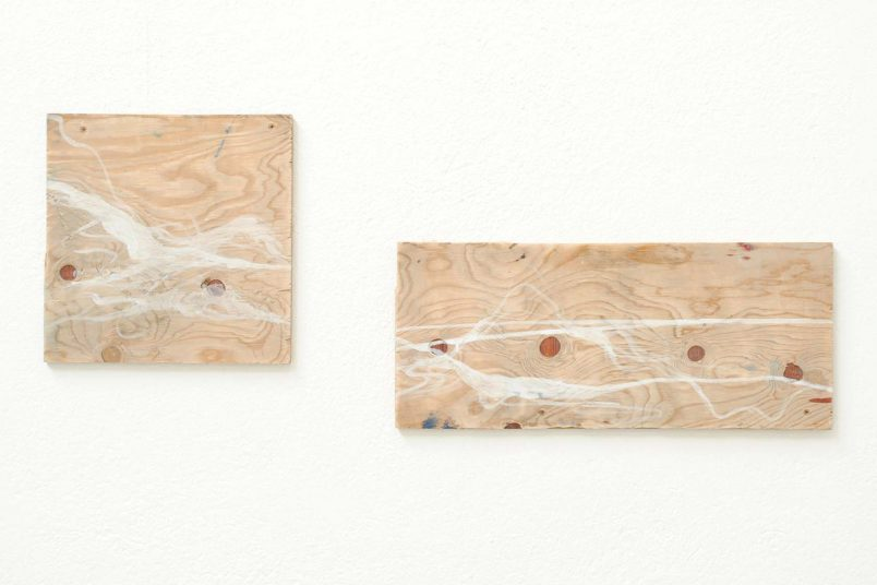 Landschaft 2-teilig - 2012 - Dispersionsfarbe auf Holz - 41 x 104 cm