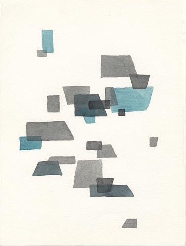 Marlies Kuhn, o.T., 2013, Aquarell, 34 x 32 cm
