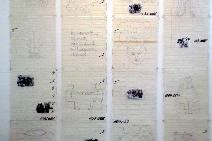 FamilienAufstellung, Leporello 200 x 200 cm, Lochkarten