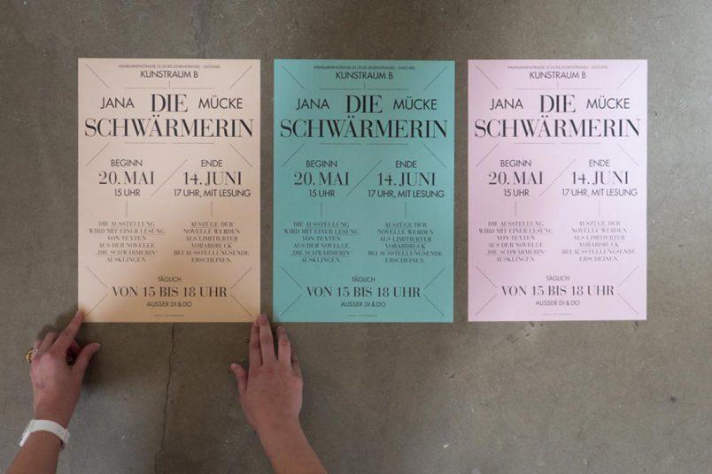 Plakate, gestaltet von Hagen Verleger