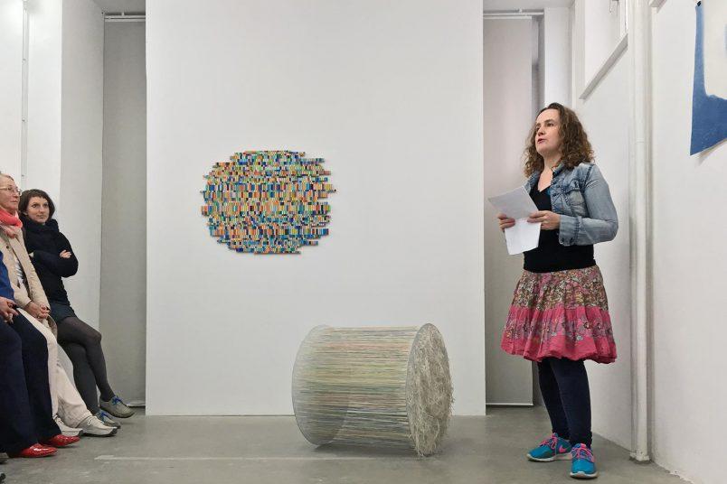 Ute Diez eröffnete die Ausstellung