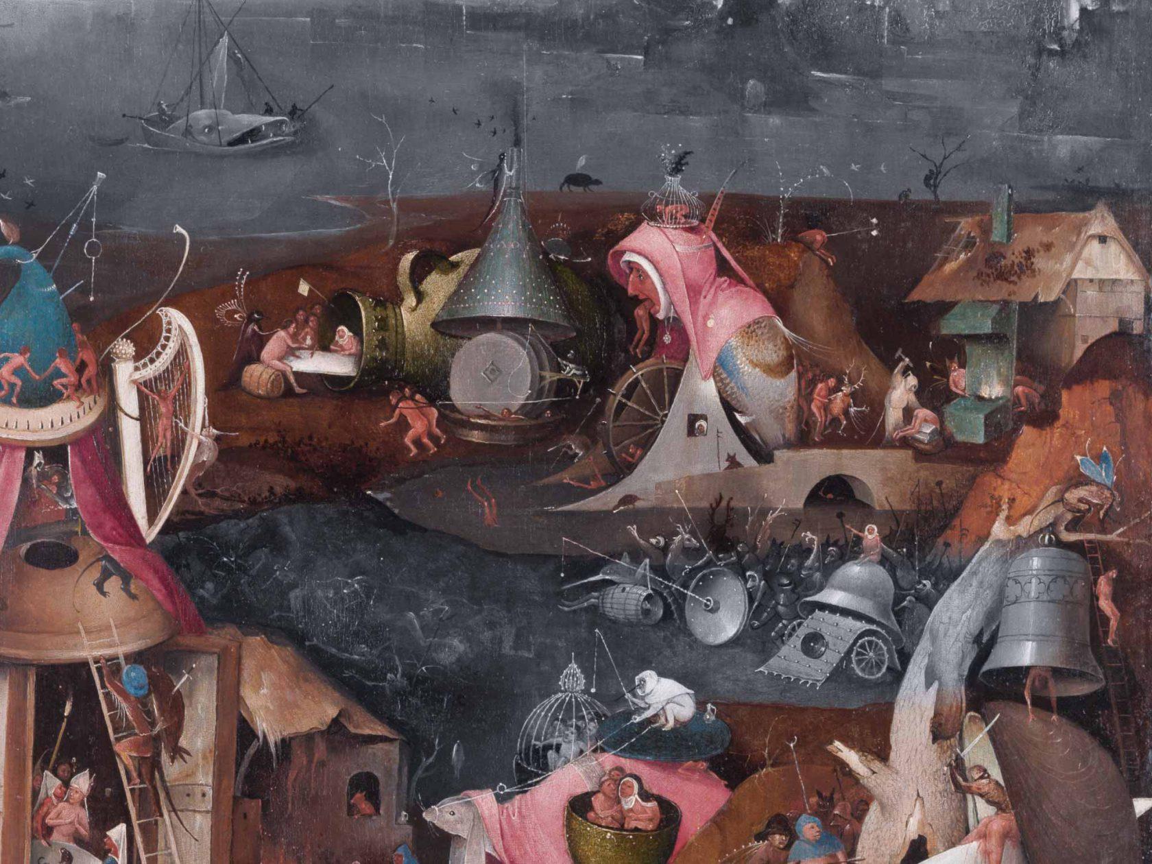 'Das jüngste Gericht' Ausschnitt, um 1500, Hieronymus Bosch, [Public domain], via Wikimedia Commons
