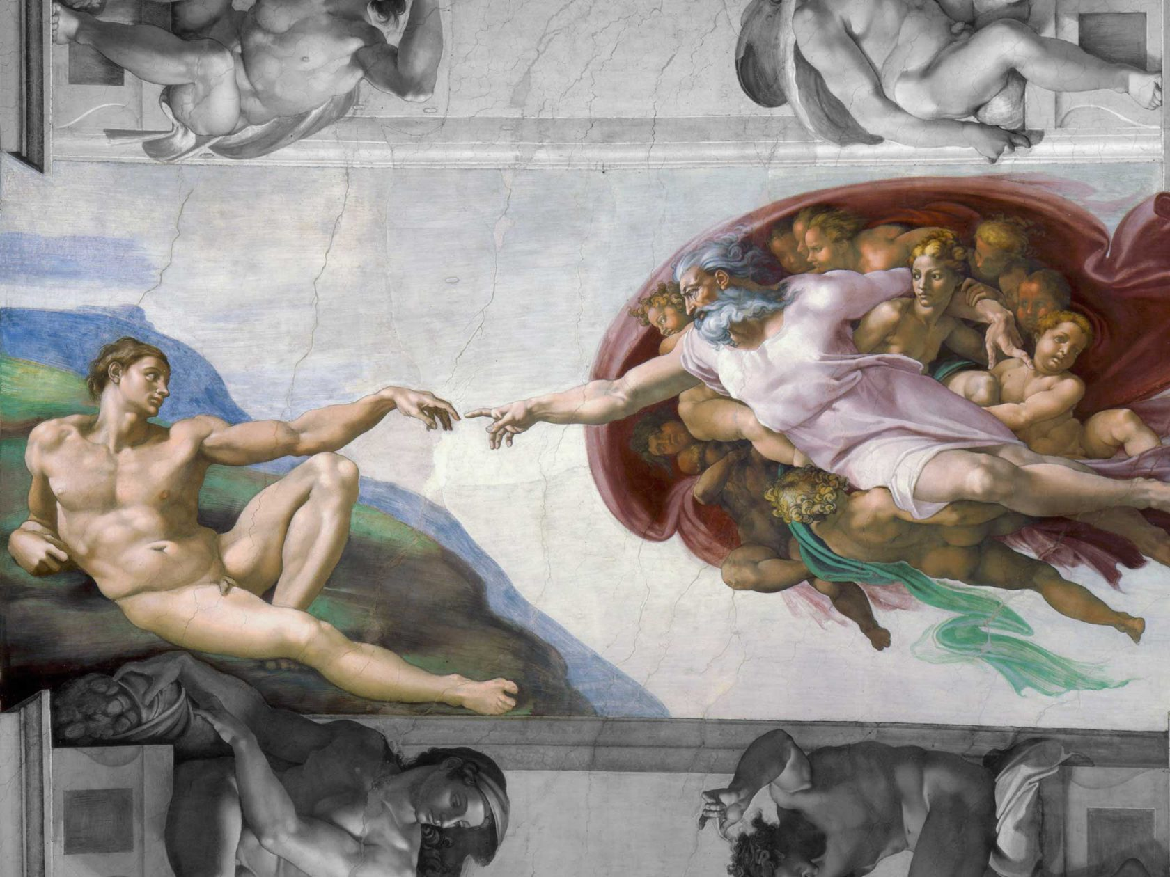 The Creation of Adam, Michelangelo, ca. 1511, [Public domain] via Wikimedia Commons