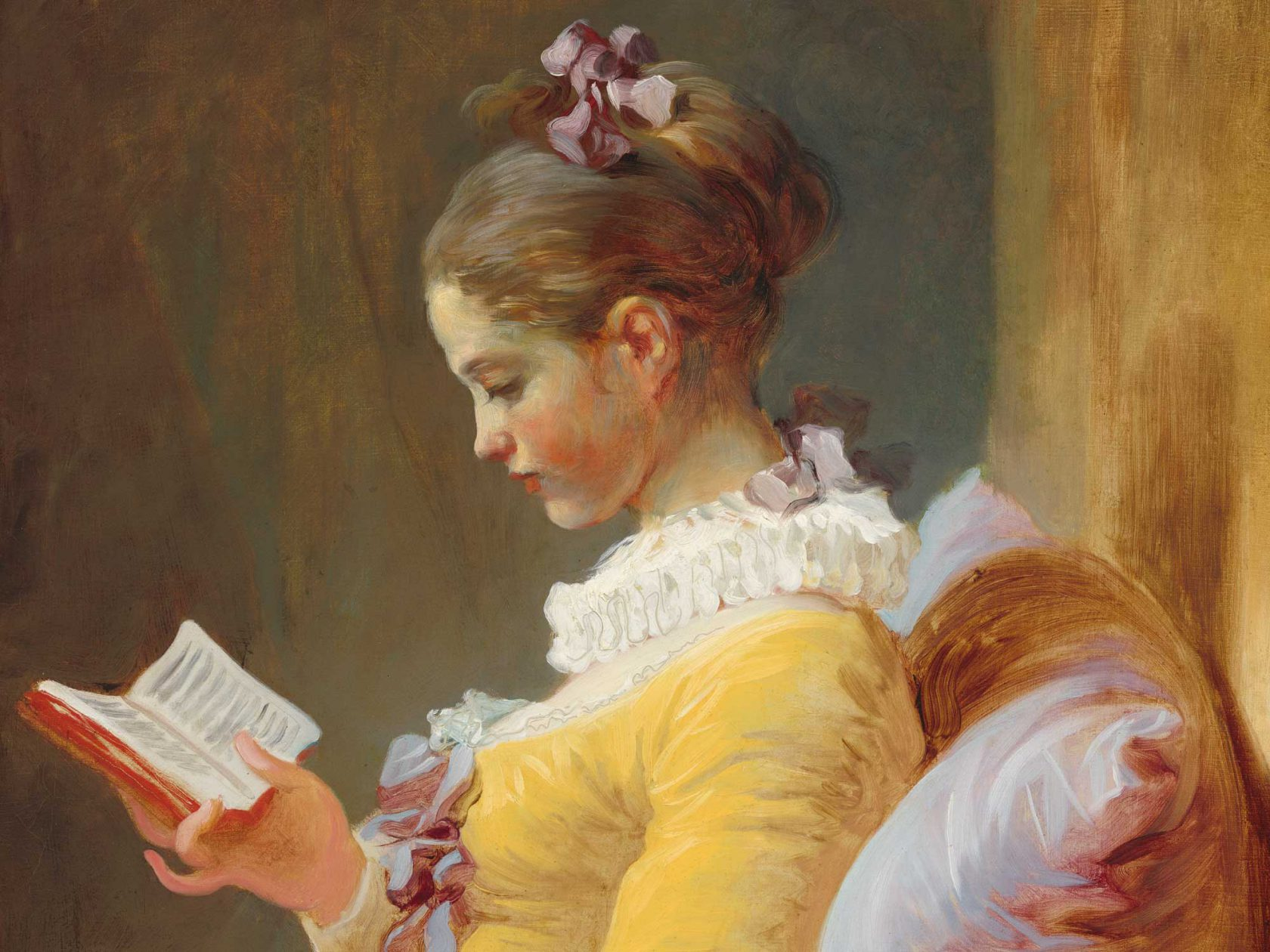 A Young Girl Reading (La Liseuse), Jean-Honoré Fragonard, ca. 1170, [Public Domain], via Wikimedia Commons
