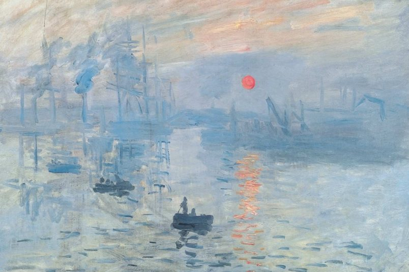 """Impression Sonnenaufgang"", Oscar-Claude Monet, 1872 [Public Domain], via Wikimedia Commons"