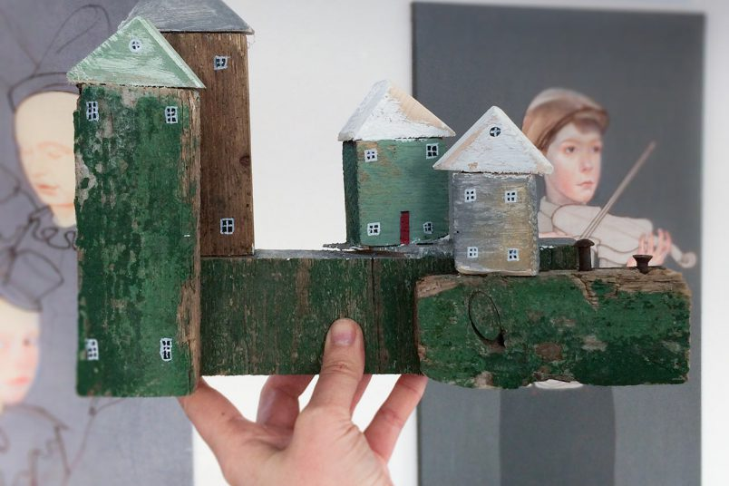 Diese Miniaturhäuser wurden im Workshop gestaltet