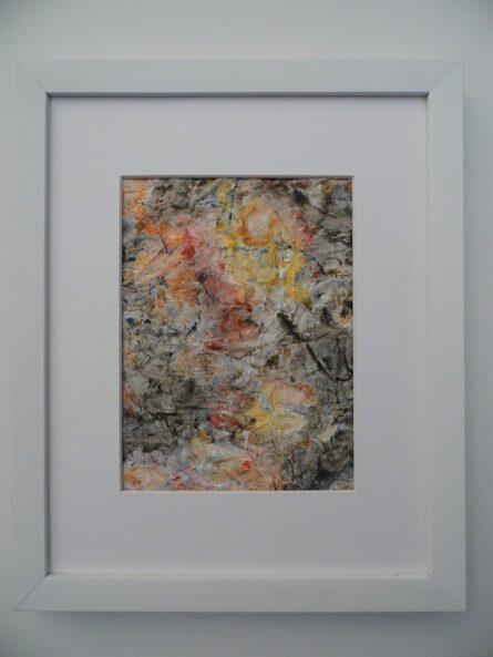 VERKAUFT - Christof Klemmt, 'Zergangenes Herbstlaub auf Asphalt I', 2004 / 2020, Gouache u. Aquarell auf Packpapier, 30 x 24 cm, € 60,00 m. R
