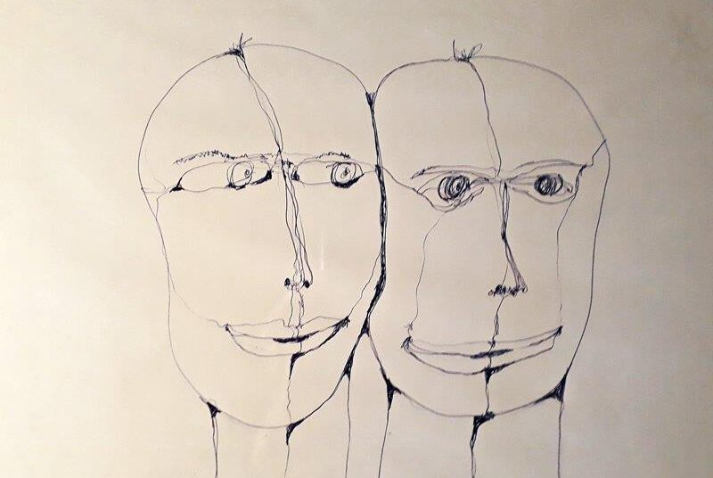 RENA N, Serie 'Zweisam' 2010 -…, Zeichnung, Bleistift / Kugelschreiber DIN A4 m. R., € 85,00