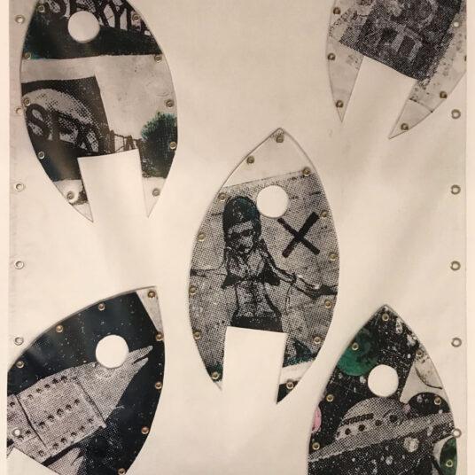 8. Rockets, Vinyl, Wandbild, Collage, 170 x 120 cm, € 200,00