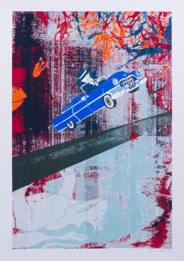 Schlenker, Siebdruck, 50 x 70 cm, € 100,-