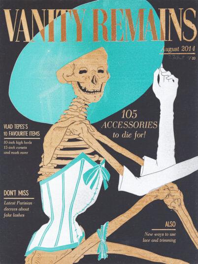 Vanity Remains August, Linolschnitt Buchdruck, 30 x 40 cm,  € 250,-