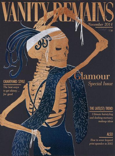 Vanity Remains November, Linolschnitt Buchdruck, 30 x 40 cm,  € 250,-