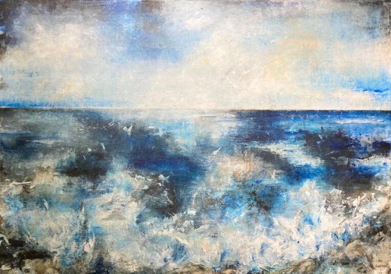 o.T., 2021, Acrylmalerei, 140 x 100 cm, € 1.250,-